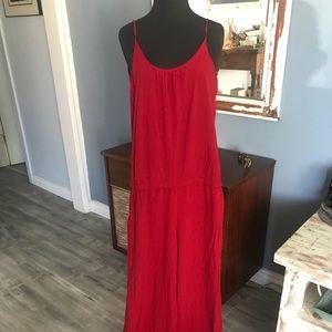 TYSA drapey red pantsuit S